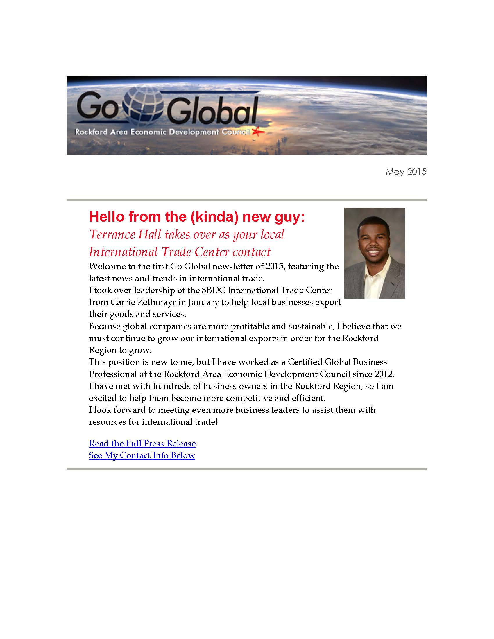 Spring Go Global Newsletter: Paris Air Show is just a month away