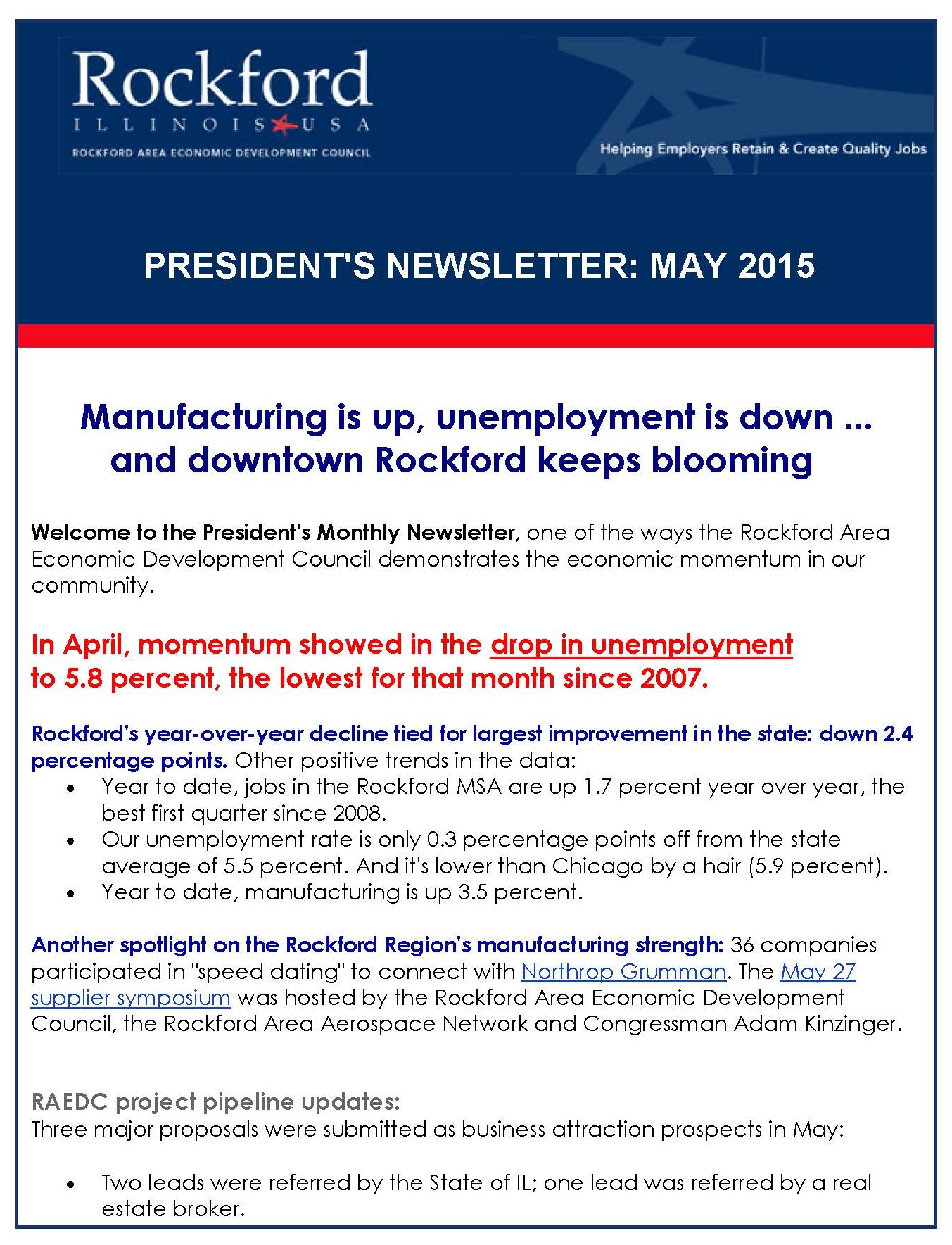 May2015PresidentsNewsletter Page 1