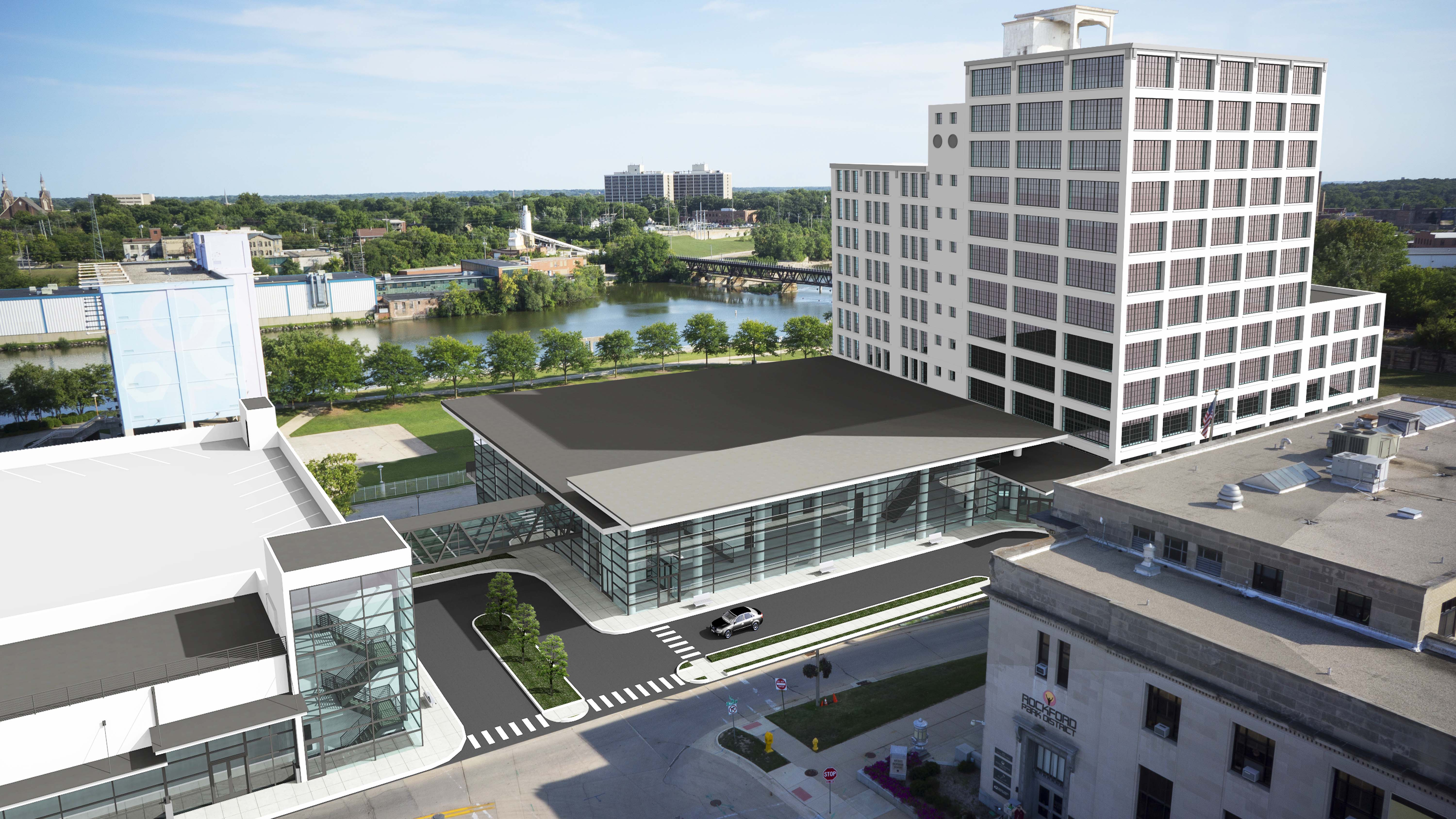 Gary Gorman Hotel Convention Center Ziock Building Rendering Smaller Rockford